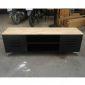 KTV68038 - Kệ để TV phòng khách gỗ màu đen 150x40x50cm