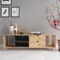 Kệ tivi phòng khách hiện đại bằng gỗ 160x40x50cm KTV68041