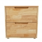 TDG68021 - Tủ đầu giường 2 ngăn kéo gỗ cao su 50x40x50cm