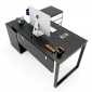 HBRT020 - Bàn giám đốc 160x140cm hệ RECTANG chân sắt lắp ráp