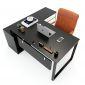HBRT021 - Bàn giám đốc 160x160cm hệ RECTANG chân sắt lắp ráp