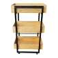 KB68005 - Kệ bếp gỗ tre khung sắt 3 tầng ( 50x34x80cm)