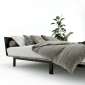 GN68017 - Giường ngủ JAPA 120x200cm gỗ cao su khung sắt lắp ráp