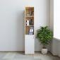 THS68020-  Tủ hồ sơ 40x40x220cm gỗ cao su 1 cửa dưới
