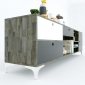 KTV68048 - Kệ Tivi Uran2 gỗ cao su ( 200x40x55cm)