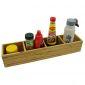 PKT008 - Khay để gia vị gỗ tre 4 ngăn (10x45x8cm)