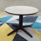 TT68063- Bàn Sofa chân trụ tròn chia 4 sơn đen mặt Đá Trắng