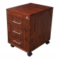 TCN68015 - Tủ cá nhân gỗ TRÀM màu cánh gián 3 ngăn kéo có khoá ( 50x40x50cm)