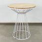 CFD68045- Bàn Cafe tròn 60cm gỗ CAO SU chân cổ lọ viền nhiều màu