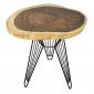 Bàn cafe tròn gỗ Me Tây Nguyên Tấm dày 5cm chân Sọc Phi BMT045