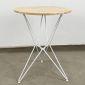 CFD68041- Bàn cafe tròn 60cm Gỗ cao su chân sắt kiểu Hairpin nhiều màu