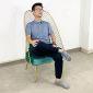 GTG68027 - Ghế đọc sách, thư giãn khung màu vàng đồng
