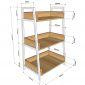 KS68091 - Kệ trang trí CASAN 3 tầng gỗ kết hợp khung sắt 60x36x91(cm)