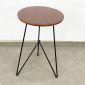 Bàn cafe tròn 50cm màu cánh gián chân sắt sơn tĩnh điện CFD68052
