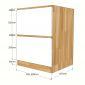 MTBD007 - Module tủ bếp dưới hệ 2 ngăn kéo 40x58x82(cm)