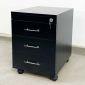 TCN68018 - Tủ hồ sơ cá nhân màu đen gỗ cao su 3 ngăn kéo - 50x40x50 (cm)