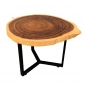 Bàn sofa gỗ Me Tây Nguyên Tấm chân sắt BMT051