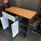 Kệ bếp di động KONA2 mặt gỗ tre (120x40x80cm) KB68014