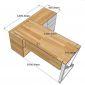 Bàn giám đốc 160x140 hệ Oval Concept lắp ráp HBOV020