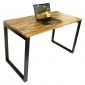 Bàn làm việc gỗ tràm 120x60cm hệ Wooden chân sắt lắp ráp HBWD002