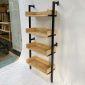 Kệ áp tường 4 tầng gỗ cao su khung sắt KTT6819