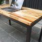 Bàn làm việc 120x60cm gỗ tràm hệ Wooden chân Uconcept lắp ráp HBWD021