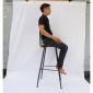 Ghế bar tựa lưng gỗ chân sắt sơn tĩnh điện GBAK002