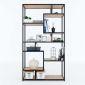 Kệ trang trí gỗ cao su khung sắt 100x30x180(cm) KTB68071