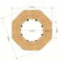 Module Bàn Cụm 8 gỗ Plywood hệ Lego chân sắt Oval HBLG020