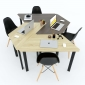 Chân bàn sắt hình thang hệ Lego sắt Oval HCLG001