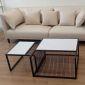 Bàn sofa mặt đá khung sắt sơn tĩnh điện TT68119