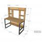 Bàn học kết hợp kệ gỗ ( 60x120x145cm) FD68022