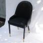 Ghế ăn cổ điển nệm da chân sắt sơn đen GA68014