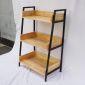 Kệ CASAN 3 tầng gỗ kết hợp khung sắt 60x36x91(cm) KS68091