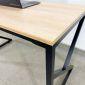 Bàn họp 200x100cm gỗ plywood hệ PLY chân sắt lắp ráp HBPL009