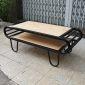 Bàn sofa 2 tầng gỗ cao su khung sắt sơn tĩnh điện TT68116