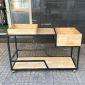 Kệ di động đa năng TOMO gỗ cao su khung sắt sơn tĩnh điện KB68028