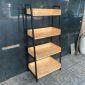 Kệ sách, trang trí CASAN 4 tầng gỗ kết hợp khung sắt 60x36x126(cm) KS68092