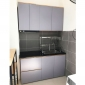 Hệ tủ bếp mini 1m4 hiện đại gỗ cao su chống ẩm BTB68013