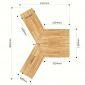 Module Bàn Cụm 4 từ bàn hình thang 140x60cm gỗ cao suhệ Lego 2 HBLG031