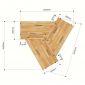Module Bàn Cụm 3 gỗ cao su hệ Lego 2 HBLG025