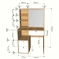 Bàn trang điểm kết hợp chân tủ gỗ cao su  BTD68042