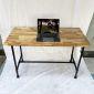 Bàn làm việc 120x60cm gỗ Tràm chân ống nước hệ Wooden HBWD027