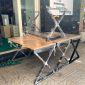 Bàn làm việc 100x60cm gỗ cao su hệ XConcept lắp ráp HBXC001