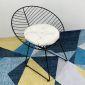 Combo Bàn Cafe Tròn 60cm Và 2 Ghế Sắt Có Đệm CBCF070