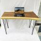 Bàn làm việc gỗ me tây 120x60cm chân sắt Hairpin BMT067