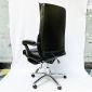 Ghế giám đốc màu đen, lưng cao, chân nhôm, 2 cần điều khiển HOM1058-01