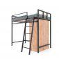 Giường tầng kết hợp tủ quần áo gỗ cao su khung sắt GT009