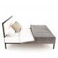 Giường ngủ đôi 160x200cm gỗ cao su khung sắt GN68039