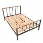 Giường ngủ 140x200cm gỗ cao su khung sắt GN68040